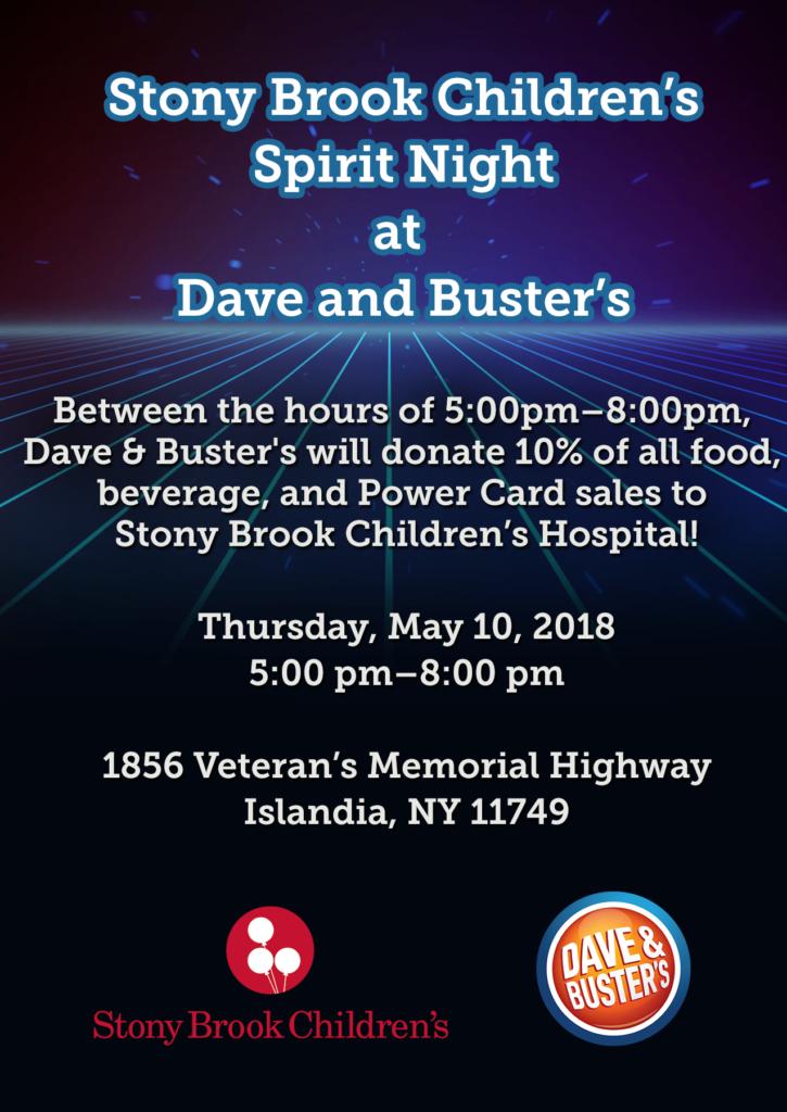 Stony Brook Children's Fundraising Flyer