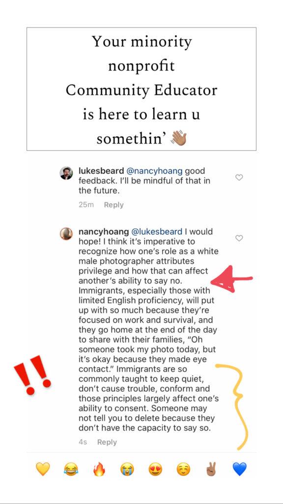 Luke Beard's Original Response